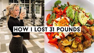 WHAT I EAT IN A DAY TO LOSE WEIGHT (how i&#39ve lost 30+ pounds in 3 months!)