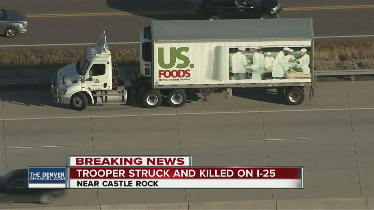 Trooper killed in crash on I-25 south of Castle Rock