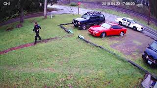 Car thief caught on camera.