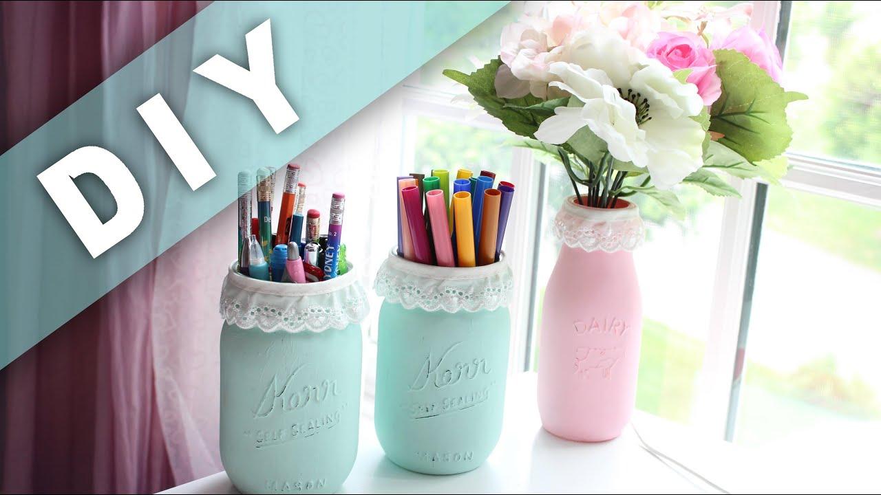 Diy cute mason jars believeinditto youtube for Cute video ideas