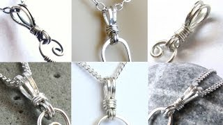 Jewelry Tutorial : Wire Wrapped Bail for Pendants