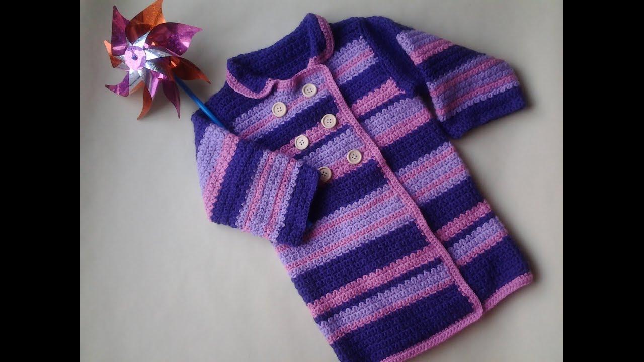 Abrigos nina tejidos crochet