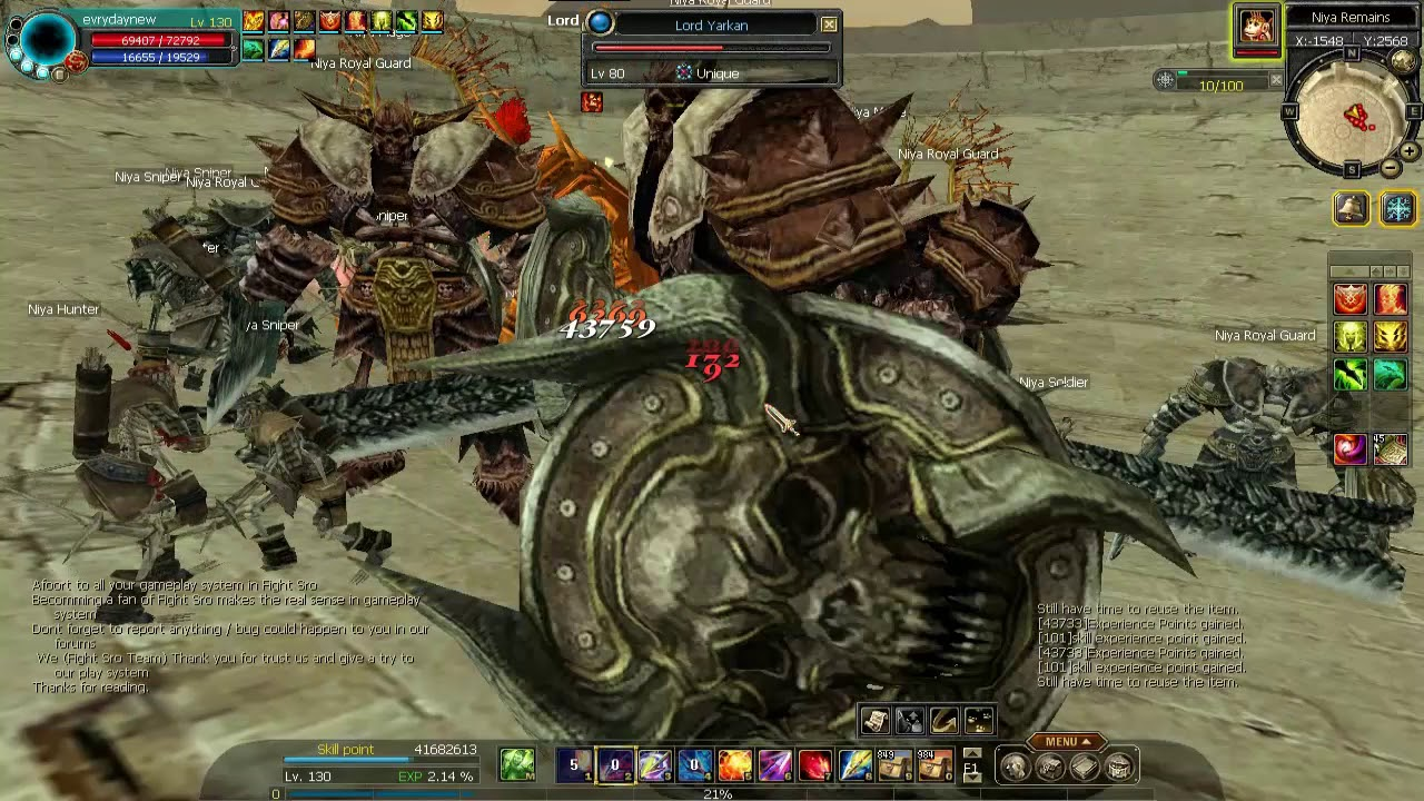 Silkroad Online Fighter SrO kills uonique Lord Yarkaan