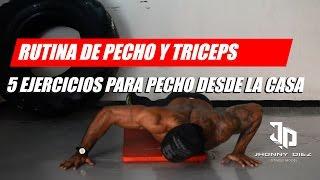 Ejercicios Para Pecho Y Triceps En Casa Rutina Push Ups Youtube