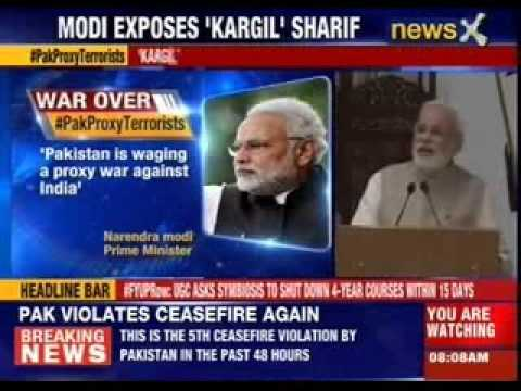 PM Narendra Modi hits out at Pakistan for proxy war against India
