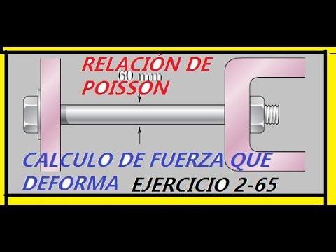 EJERCICIO 2-65, RELACIÓN DE POISSON, MECÁNICA DE