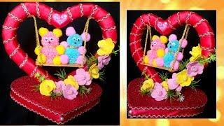 DIY Valentine's day Gift/Showpiece | Teddy on Swing