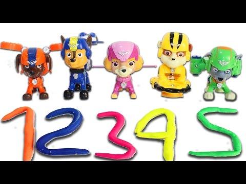 ЩЕНЯЧИЙ ПАТРУЛЬ Новые серии Развивающие мультики для детей Учим цыфры до 5 и цвета Видео для детей