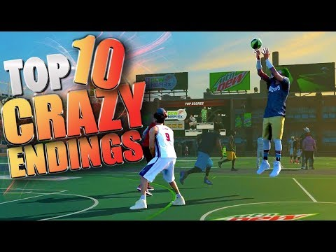 TOP 10 CRAZIEST ENDINGS - NBA 2K17 Game Winning Trick Shots