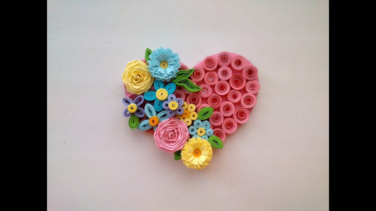 Paper quilling art quilling valentine 39 s day idea for Paper quilling designs