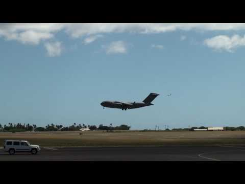 C-17 landing at Hickam AFB 9/2009