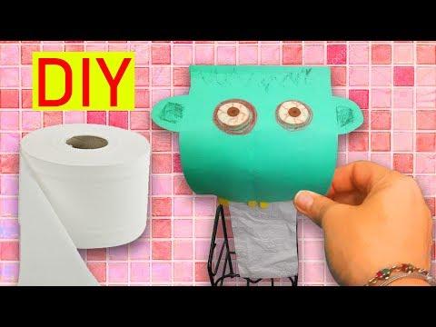 EĞLENCELİ TUVALET KAĞITLIĞI YAPIMI |  DIY Toilet Paper Rolls Holder