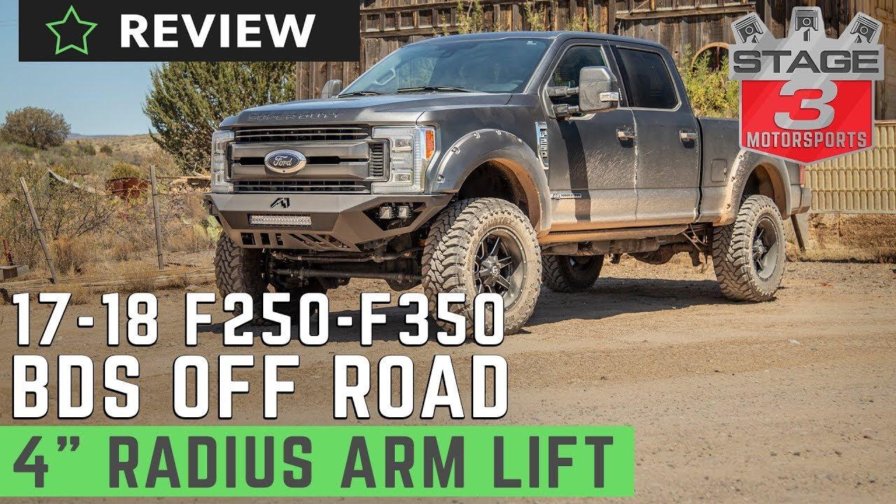 "4 Inch Lift Kit >> 2017-2018 F250 & F350 6.7L BDS 4"" Radius Arm Lift Kit Review - YouTube"