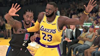 NBA 2K20 Gameplay - Los Angeles Lakers vs Los Angeles Clippers – NBA 2K20 PS4