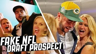 We FAKED Our Man Into the NFL DRAFT!! DRAFT PRANK
