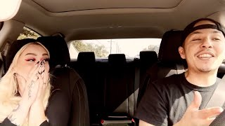 Uber Driver Raps & Her Reaction Is PRICELESS ❤️!