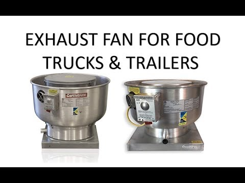 exhaust fan for food trucks and trailers close up view