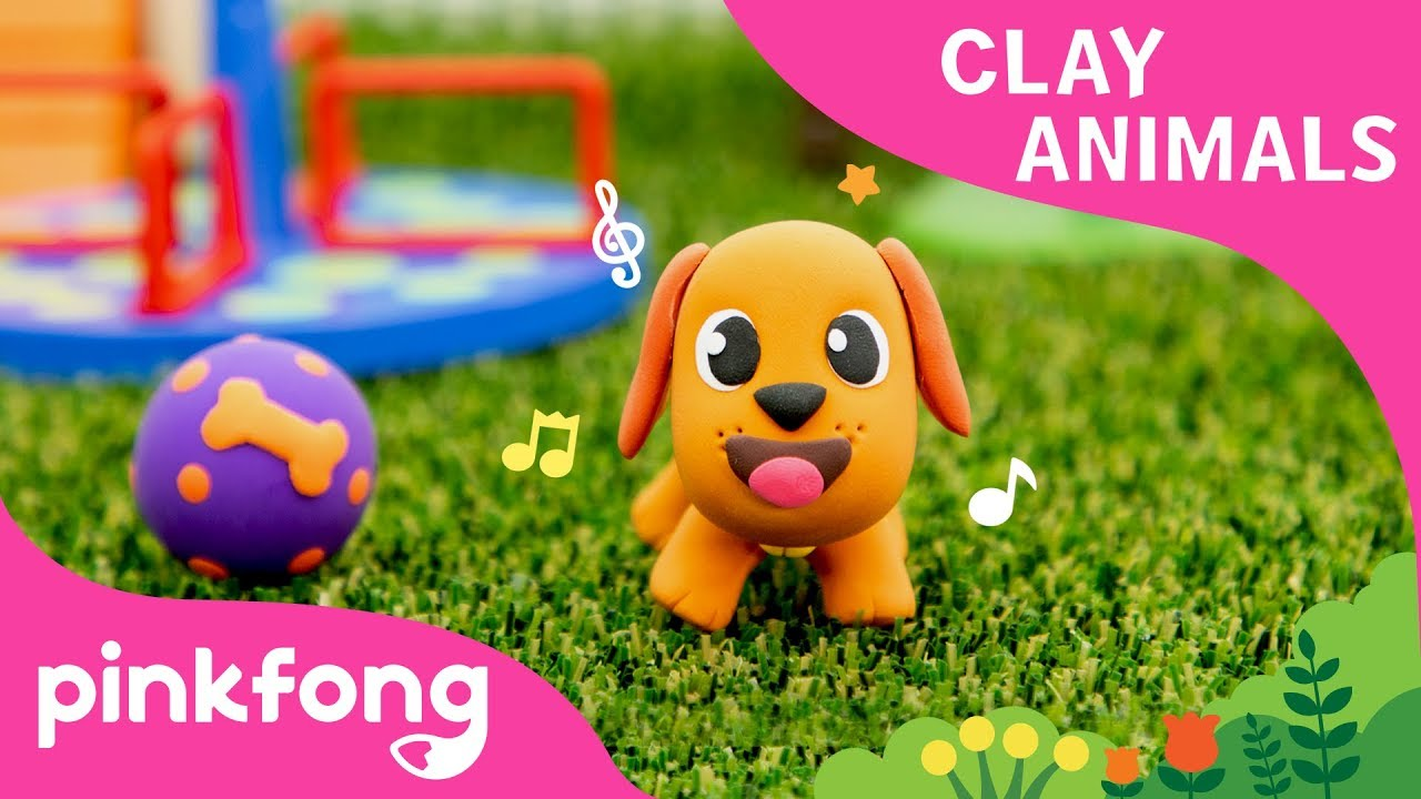 How to make a Dog with Clay | Clay Animals | DIY | Animal Songs | Pinkfong Clay Time