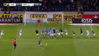 Sebastian Larssons Frisparksmål & Målfirande Mot Malmö FF | AIK-Malmö FF 1-1 29/10-2018
