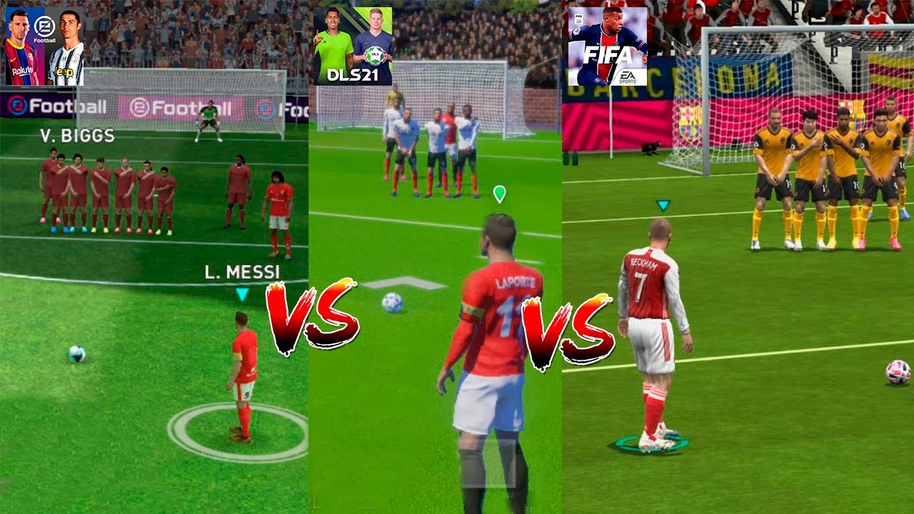 PES MOBILE 2021 vs FIFA MOBILE 21 vs DREAM LEAGUE SOCCER 2021 I COMPARACION GAMEPLAY