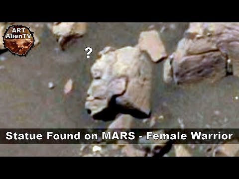 Statue Found on MARS - Female Warrior - ArtAlienTV