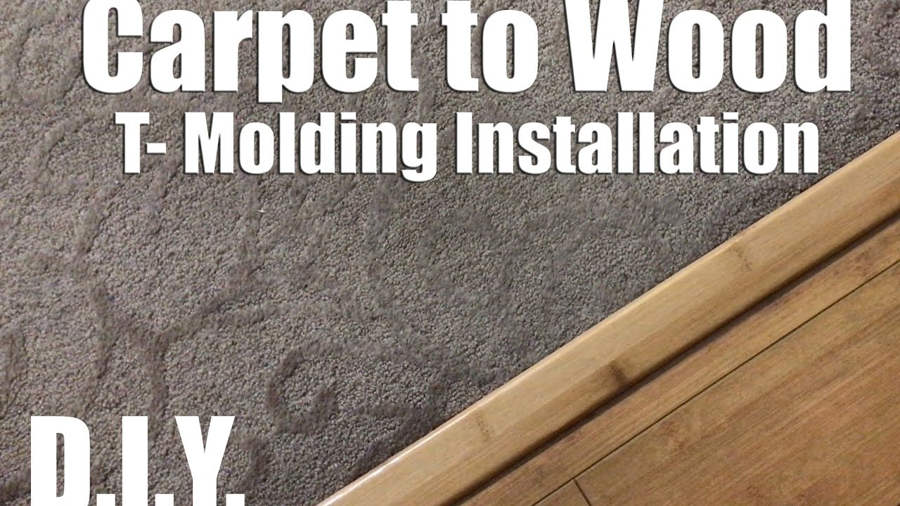 How to fix a Carpet to Wood floor Seperator - T-Mold ...
