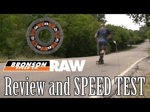 [REVIEW] Bronson Raw Skate Bearings Speed Test - New vs. 1 Year Old