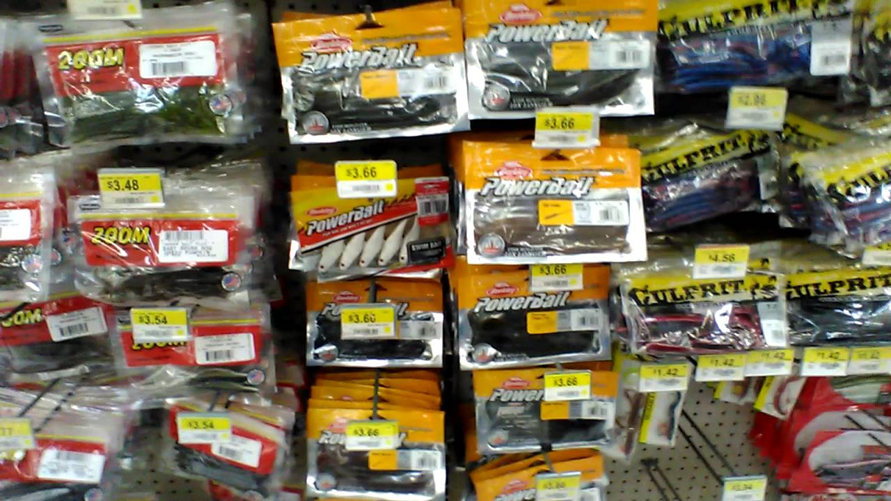 New baits i got from walmart youtube for Fishing lures at walmart