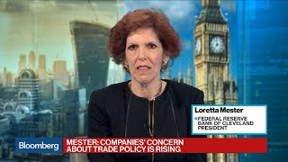Fed's Mester on Rates, Economy, Inflation, Lagarde