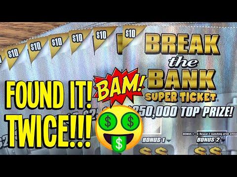 $100/NEW TICKETS! 🤑 FANTASTIC WINS!! 💰💰 10X Break The Bank Super Ticket 💵 TX Lottery Scratch Offs