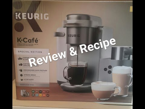 Keurig K-Cafe Special Edition Coffee and Latte maker review/caramel latte recipe