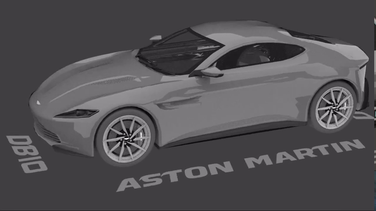 aston martin db10 speed model timelapse - blender car modeling