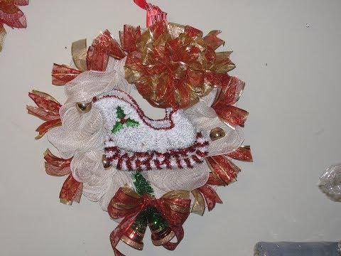 Carmen's Winter Wonderland Sleigh Wreath