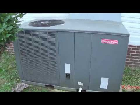 The Goodman Heat Pump Starting up in VERY cold weather!