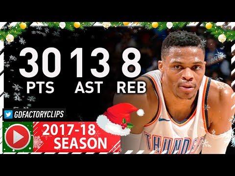 MVP Russell Westbrook Full Highlights vs Raptors (2017.12.27) - 30 Pts, 13 Ast, 8 Reb, BEAST!