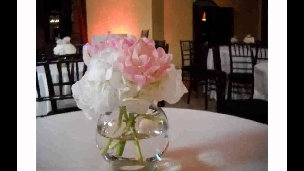 Simple Centerpieces for Wedding Reception - YouTube