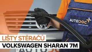 Jak vyměnit List stěrače на VW SHARAN (7M8, 7M9, 7M6) - online zdarma video