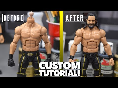 WWE FIGURE CUSTOM TUTORIAL! HOW TO MAKE A MONEY IN THE BANK 2018 SETH ROLLINS!