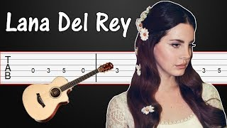 summertime sadness - lana del rey guitar tabs, guitar tutorial, guitar lesson