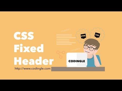 CSS Fixed Header | Codingle