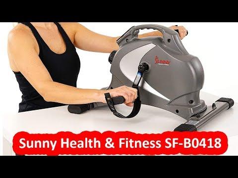 sunny-health-&-fitness-sf-b0418---best-mini-exercise-bike-under-$100