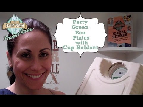Eco Plates With Built in Cup Holder Product Review  sc 1 st  YouTube & Eco Plates With Built in Cup Holder Product Review - YouTube