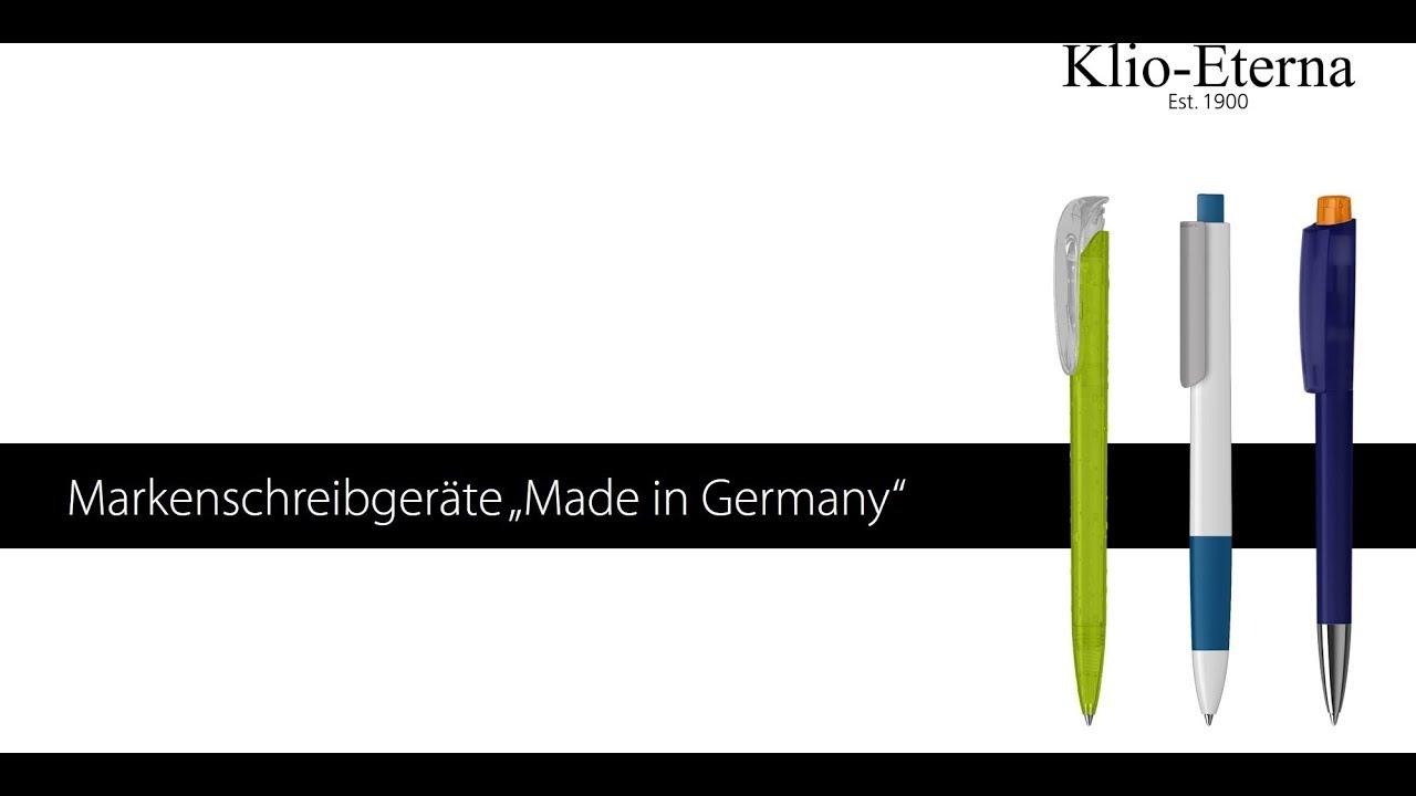 Hochwertige bedruckte Kugelschreiber - Einblick in die Produktion von Klio-Eterna