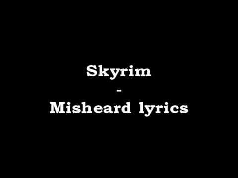 Skyrim - Misheard lyrics [BEST] Version 2