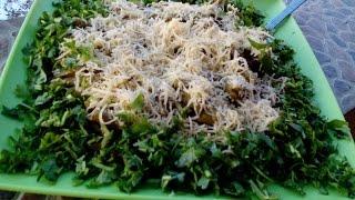 Фасолевый салат с грибами, Bean salad with mushrooms
