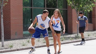 One of BigDawsTv's most viewed videos: Klay Thompson Plays Basketball with Strangers!!