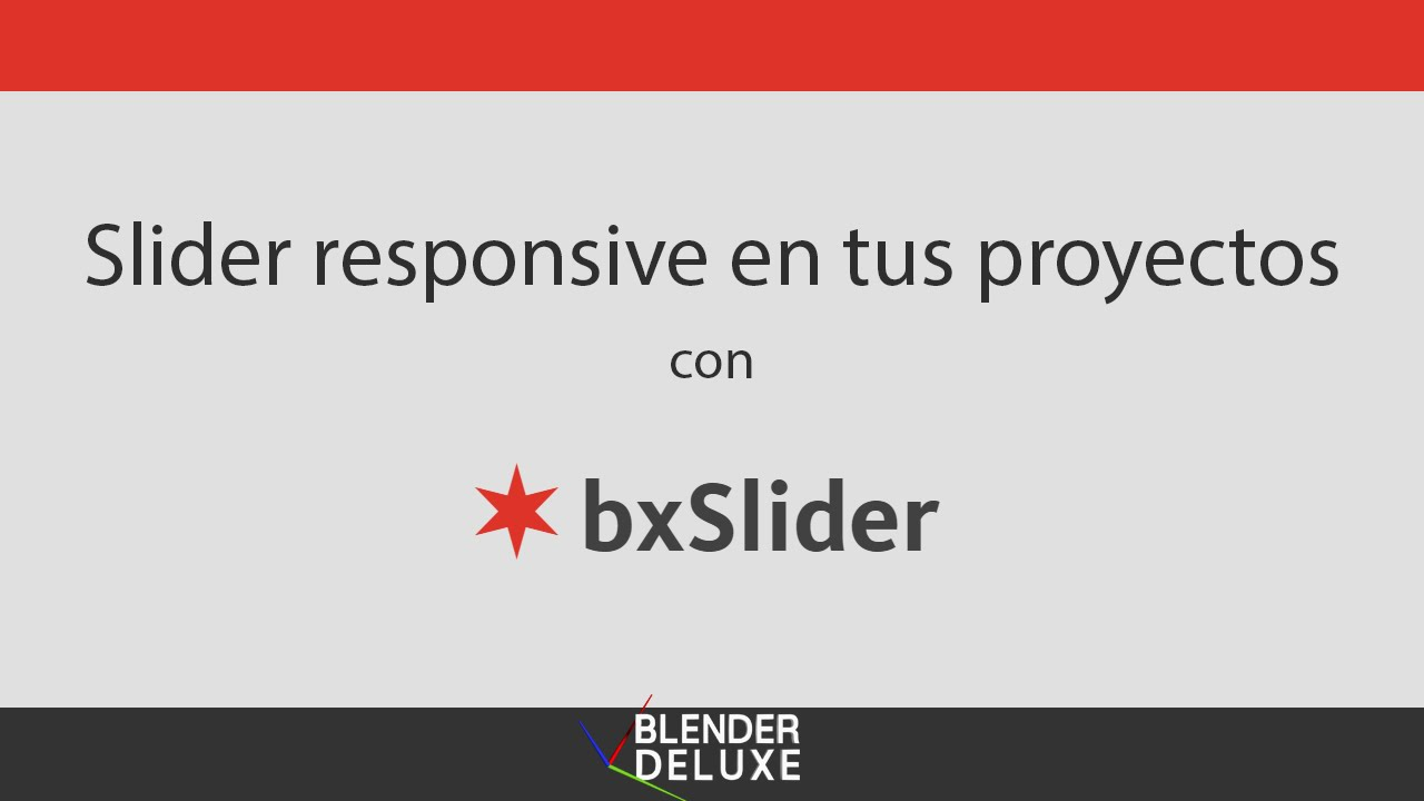 Slider responsive con bxSlider