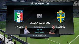 EM Frankrike 2016 - FIFA 16 Simulering -  Italien vs Sverige - figgehn & DanVeteran
