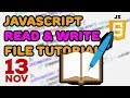 JavaScript Read and Write File