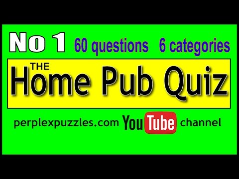 The Home Pub Quiz No 1